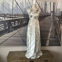 HILDEBRAND | UK 6-8 | Vintage Ball Gown | Maxi Dress | Silver | Prom