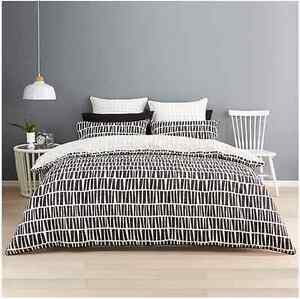 Dash Retro Modern Style Quilt / Doona Cover Set - King Size
