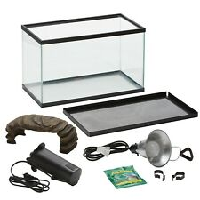 Aquatic Habitat Set Up Enclosure Water Tank Starter Kit Reptile Turtle Frog Pet
