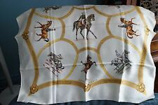 "AUTHENTIC HERMES  100% SILK SCARF ""LE GENERAL L'HOTTE""   A423"