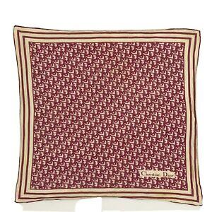 CHRISTIAN DIOR MONOGRAM LOGO  SAMLL cotton Scarf 21/20  in poor condition  #A102