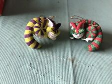 Lot Of Disney Cheshire Cat from Alice In Wonderland Ornaments Figurine Rare