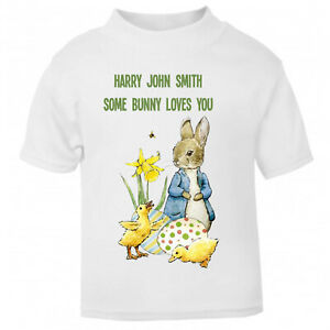 Peter Rabbit Easter Bunny Unisex T Shirt – Printed with Your OWN Message