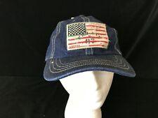 Polo Ralph Lauren blue denim baseball Dad hat adjustable leather strap USA New
