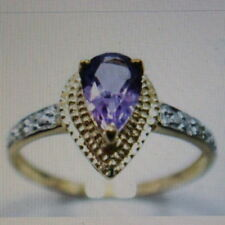 Unbranded Pear Natural Amethyst Fine Rings