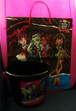 Monster High Plastic Bucket Pail Favor Container with Large Trick or Treat Bag