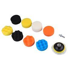 10pcs Multifunction Sponge Car Polishing Self-adhesive Waxing Wool Wheel Set RR