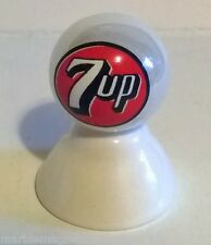 7 UP SODA OLD ROUND LOGO ON WHITE PEARL MARBLE