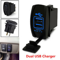 1x 12-24V 3.1A Dual LED USB Car Auto Power Supply Charger Port Socket Waterproof