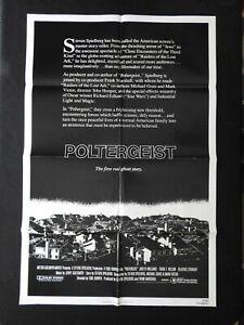 """1979 """"POLTERGEIST"""" 27x41 Movie Poster Jobeth Williams STEPHEN SPIELBERG"""