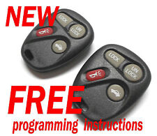 NEW PAIR GMC GM BUICK CHEVY PONTIAC SATURN KEYLESS REMOTE REMOTES FOBS AB01502T