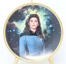 Star Trek The Next Generation Counselor Deanna Troi Collector Plate w/Coa