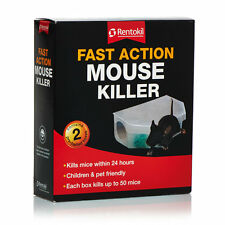Rentokil Fast Action Mouse Killer - Pre-Baited Boxes - 24 Hours- Pack Of 2