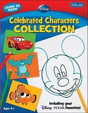 LIKE NEW!! Learn to Draw Disney Celebrated Characters Collection*Mickey*Nemo*Car