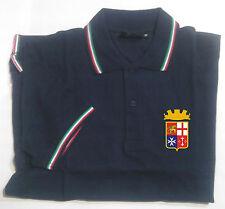 Polo Navy tricolore con stampa lato cuore Marina Militare Italiana