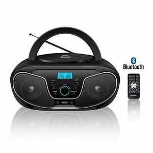 Roxel RCD-S70BT Boombox CD Player with Bluetooth, Remote Control, Radio, Black