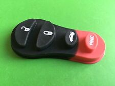 4 Button rubber pad with panic button for Chrysler Voyager Dodge Jeep remote key