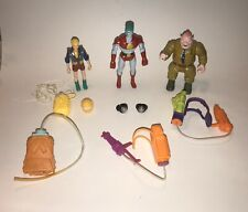 Vintage Lot of 1991 Tiger Toys Captain Planet Action Figure and Accessories