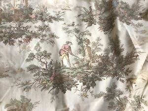 French Pastoral Toile Duvet Cover. Cream Multi. Double.Vintage Style