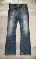 Vigoss Flare Leg Jeans Light Wash Distressed Stretch Denim Women's Size 3