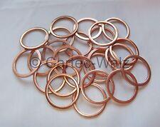 100 PIÈCES anneaux de cuivre bagues d'étanchéité Joints Cu 28x34x2,0 mm DIN 7603