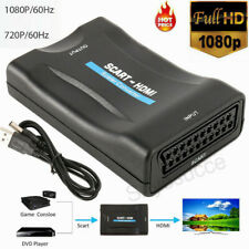 SCART to HDMI 1080P Audio Converter Scaler Box & USB Cable HDTV HD Monitor