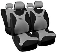 Cubiertas De Asiento De Coche Apto Peugeot 206 Conjunto Completo-Negro/Plata Conjunto Completo