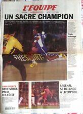 L'Equipe Journal 24/12/2001; Jackson Richardson sacré champion de l'année