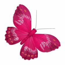 24 X  CUTE PINK BUTTERFLY EDIBLE CUPCAKE TOPPERS CAKE RICE WAFER PAPER  B16