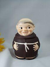 "Vintage W Goebel W Germany Tobacco Jar Humidor Friar Tuck 6.5"" RX 160/1 HTF"