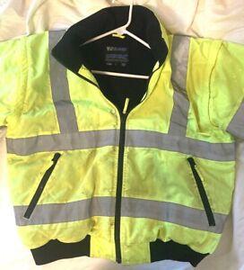 Spiewak Vizguard neon-green police coat, size large