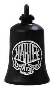 Harley-Davidson Calavera Skull Bar & Shield Ride Bell - Matte Black Finish