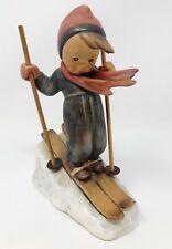 "Hummel Goebel #59 ""Skier"" Boy Skiing TMK 2 Full Bee Wooden Poles 5.5"""