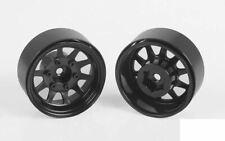 """OEM 6-Lug Stamped Steel 1.55"""" Beadlock Wheels BLACK Z-W0310 RC4WD Scale RC"""