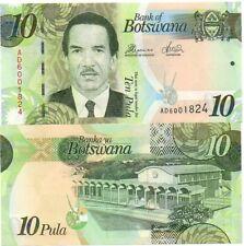 Botswana - 10 Pula 2014 UNC paper Lemberg-Zp