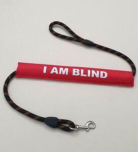 Dog Lead Sleeve red I am blind