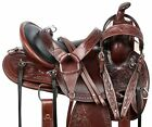 HORSE SADDLE WESTERN TRAIL GAITED ENDURANCE BROWN FLORAL TOOLED LEATHER TACK 16