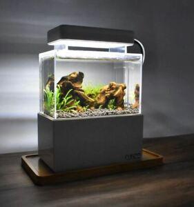 Mini Fish Tank with LED Light USB Air Pump (1Litre)