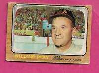 1966-67 TOPPS # 53 HAWKS WILLIAM REAY COACH CREASED  CARD (INV# C3103)