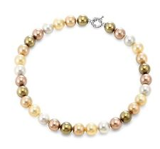 Authentic JOIA De Majorca Golden Hues Round Pearl Necklace, 12 mm