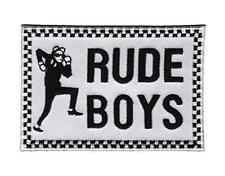 OFFICIAL LICENSED - SKA - RUDE BOYS EMBROIDERED IRON ON/SEW ON WOVEN PATCH -