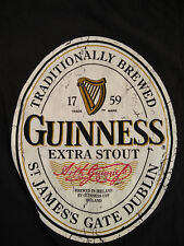 Official Guinness Merch Men T Shirt M Distressed Logo Irish Stout Short Sleeve