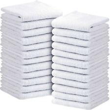 "Asiatique Linen 24 Pack 500Gsm Cotton Washcloths, 12x12"" - Face and Gym Towels"