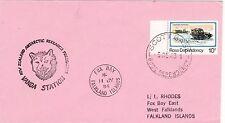 AA110 enveloppe thème Chien oblitération VANDA STATION New Zealand Antartic Rese