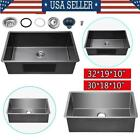 30*18*10inch ,32*19*10inch Stainless Steel Top Mount Kitchen Sink Single Basin