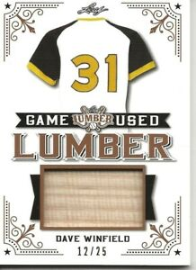 2021 LEAF LUMBER DAVE WINFIELD GAME-USED BAT RELIC #12/25