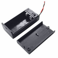 Batteriehalter für 9 V-Block Akkuhalter Batteriefach mit Schalter Ein Aus DE Neu