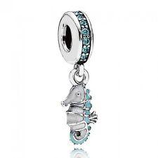 Authentic Silver 925 Sterling Tropical Seahorse Charm Bead Suit Pandora Bracel