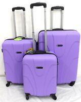 Hardshell 4 Wheel Lightweight Spinner Set of 3 Trolley Suitcase Luggage Case Bag
