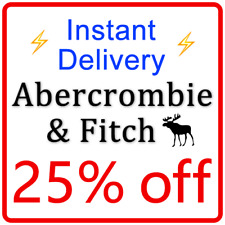 ***25% OFF*** ABERCROMBIE Coupon A&F Promo Code === Instant Delivery ===